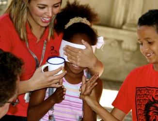Atividade sensorial com público infantil