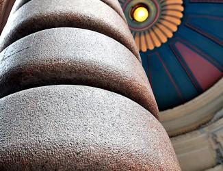 Detalhe da pilastra de entrada