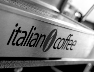 Detalhe da máquina da Italian Coffee