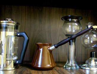 Diferentes tipos de cafeteiras