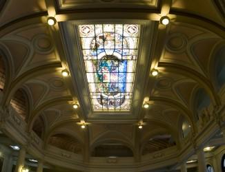 Vitral do edifício da Bolsa Oficial de Café. Crédito: Marco Antonio Sá